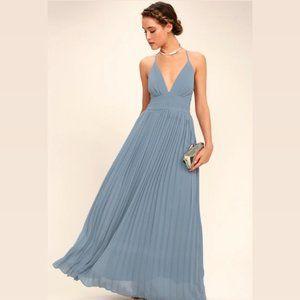 Depths of my Love dusty blue bridesmaid/prom dress
